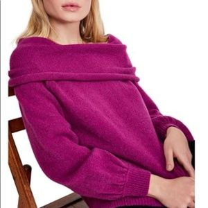 Free People Echo Beach Pullover Magic Orchid Med